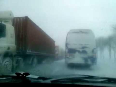 Снежные заносы по дороге в Ставрополь (фильм 2) 30.01.2014