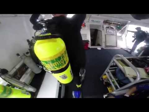 Diving with Sharks and Barracuda on USCG Spar