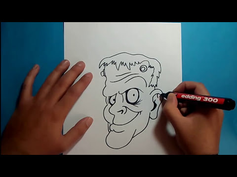 Como dibujar a Frankenstein paso a paso 5 | How to draw Frankenstein 5