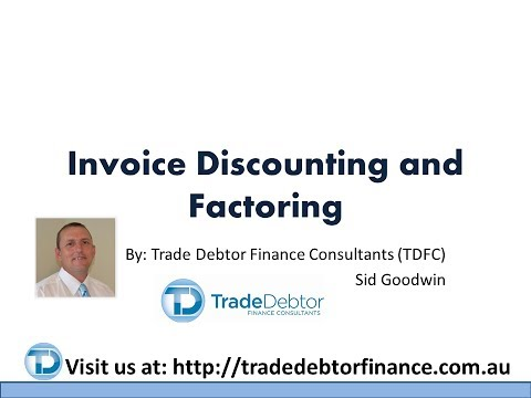 Invoice discounting for Confidential invoice factoring