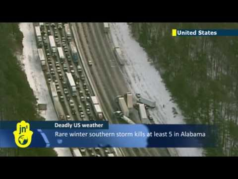 US Snowed Under: Freak storm strands forces southern US states to declare emergency