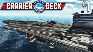 Carrier Deck #1 CVN 76 Carrier Launch In The South Pacific