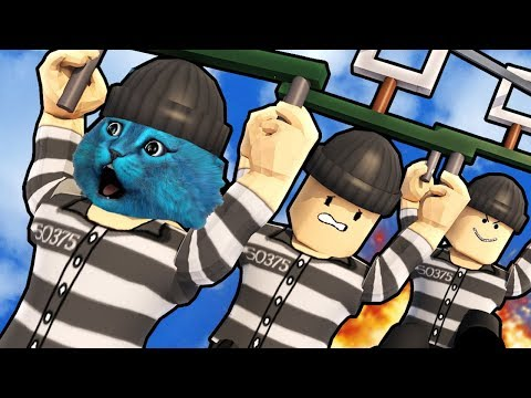 Совершаем ПОБЕГ из ТЮРЬМЫ в РОБЛОКС Roblox Prison Breakout Obby КОТЁНОК ЛАЙК