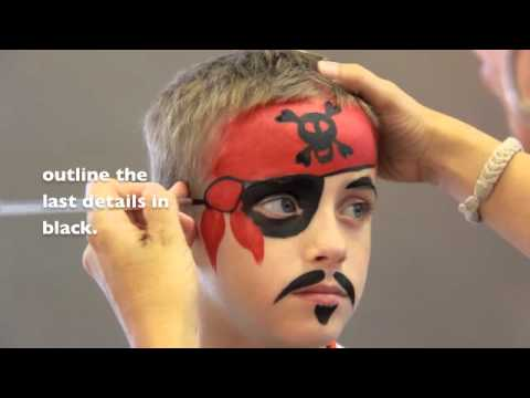 pirate face painting maquillage pour enfants youtube. Black Bedroom Furniture Sets. Home Design Ideas