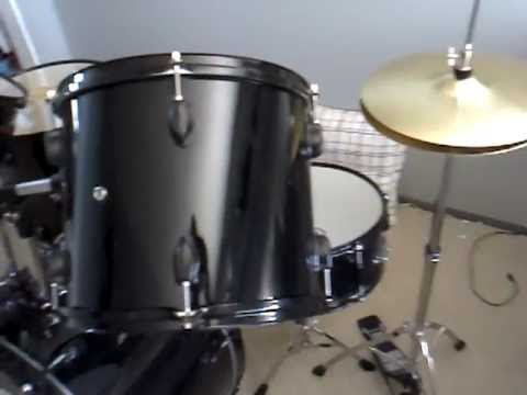 Black Cymbal Set New Gammon Drum Set Black