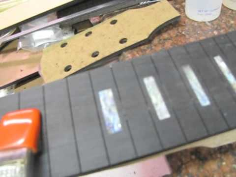 How to make a custom fretboad for a guitar luthier building