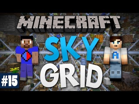 Minecraft SKY GRID #15 with Vikkstar & Ali A (Minecraft Skygrid Survival)