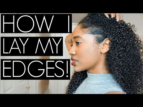 How I Lay My Edges  No Baby Hairs. No Problem!
