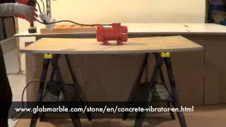 How to make an inexpensive concrete vibrating table for concrete stone