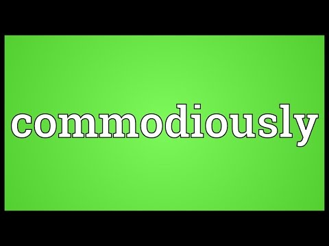 Header of commodiously