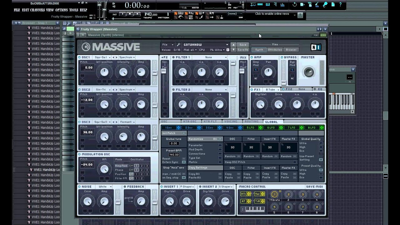 Native Instruments Massive VSTi DXi RTAS v1 1. 4 FIXED WORKING. . By: a gu