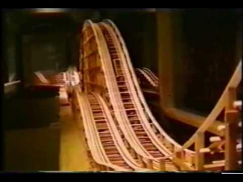 Wooden Roller Coaster Model - YouTube
