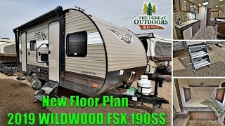 New 2019 FOREST RIVER WILDWOOD FSX 190SS Lightweight Travel Trailer Camper RV Colorado Dealer