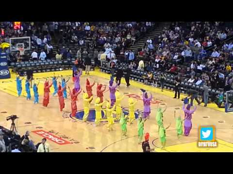 Bhangra Empire Nba Halftime Show - 2014 Bollywood Night At Golden State Warriors video