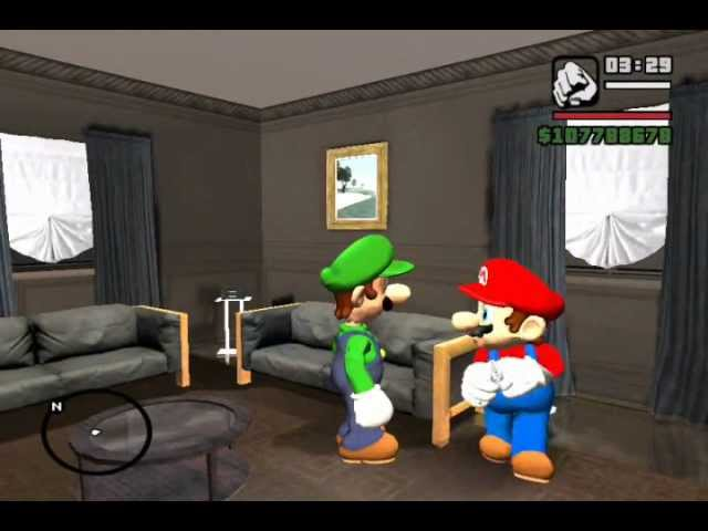 Mario bros perdido en GTA 2da parte (Aventura de luigi)