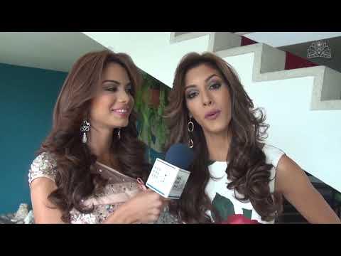 Miss Amazonas y Miss Guárico en la Entrevista con el Jurado