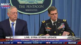 """FULL: """"Mad Dog"""" Mattis Gives Update To Syria Strikes. Warns Assad Of Future Attacks"""