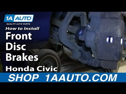 How To Install Replace Front Disc Brakes 1990-00 Honda Civic