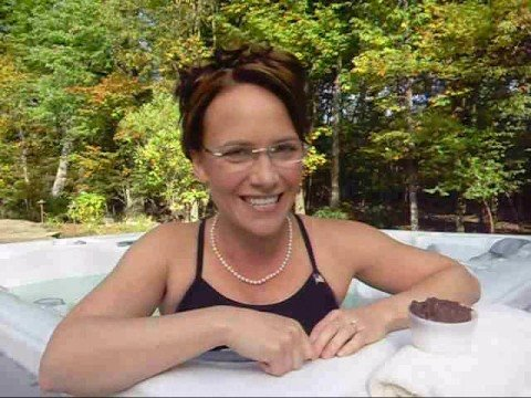 Sarah Palin Talkin  Dirty in a Hot Tub