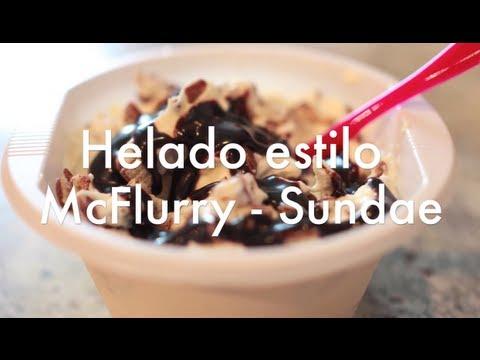 Cómo Hacer Helado Casero estilo McFlurry - Sundae - Sandy