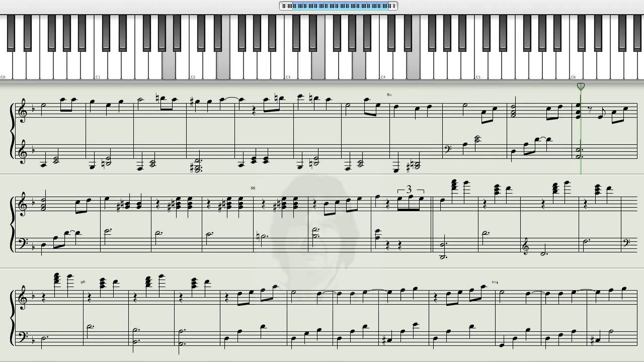 How to play hijo de la luna jos mar a cano on the piano for Dietmar steinhauer