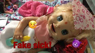 BABY ALIVE Danielle fakes sick! Baby alive videos