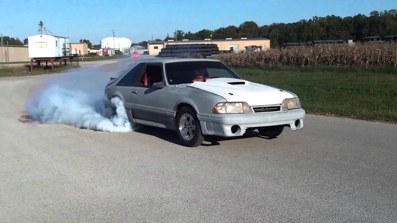 91 5 0 Mustang Burnout Youtube