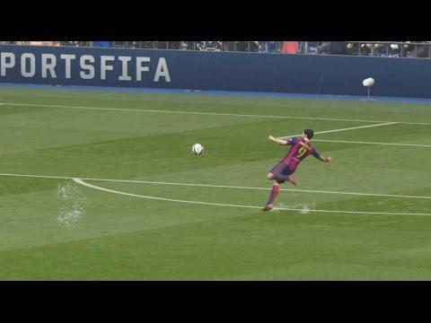 Suarez Amazing Bicycle Kick - FIFA 15 Goal Of The Week #2