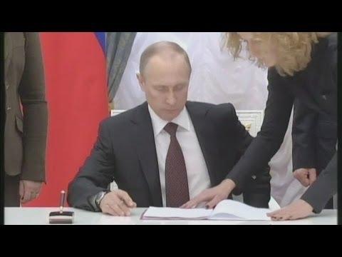 Putin jokes, but the EU talks a harder game on sanctions