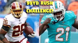 ADRIAN PETERSON VS FRANK GORE! WHO CAN GET A 99YD RUSHING TOUCHDOWN FIRST?!? BATTLE OF THE VETERANS!