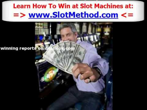 how to play slot machines and win money