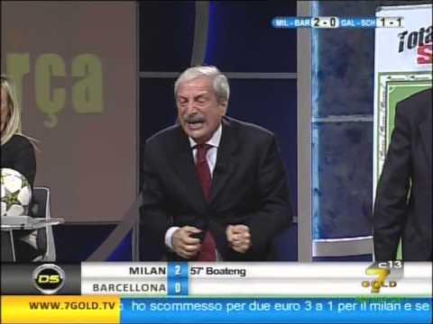 Tiziano Crudeli esplode!!!!!!!!!!!!!!! Milan 2 - pedalò 0 SULLEY MUNTARI!!!