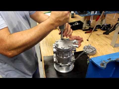 Sanden Automotive A/C Compressor Backhead Conversion