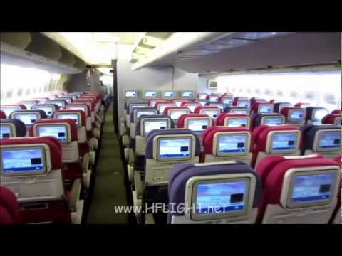 Thai Airways International's newly refitted Boeing 747-400 with new Royal First Class
