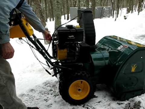 Snow blower engine start 13 HP Tecumseh