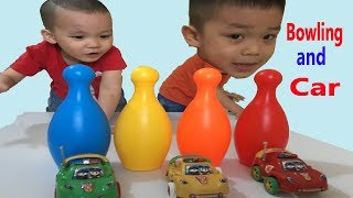 Toys for Kids | Baby pretend play with bowling and car | Nursery Rhymes for Kids