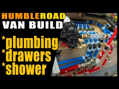 This week on the Humble Road Promaster van build - Cabinets and Plumbing