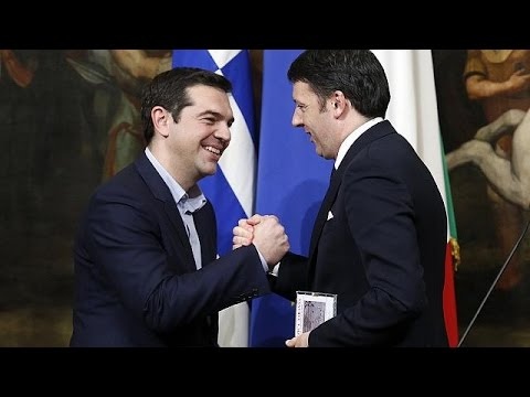 Tsipras gets support from Italy on the road to Brussels
