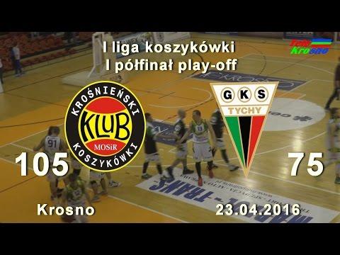 Koszykówka: Miasto Szkła Krosno - GKS Tychy (cały Mecz)
