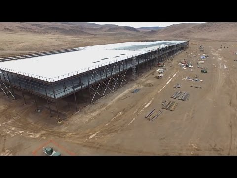 Tesla's Gigafactory: Drone's Eye View of the Massive Battery Factory