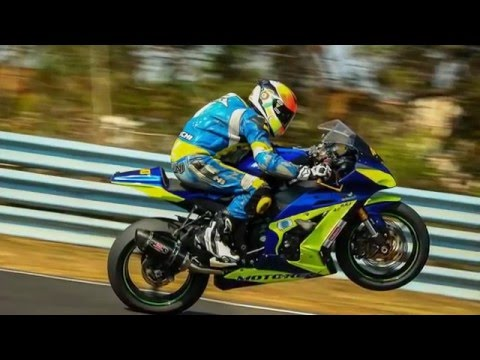 Valentino Rossi of India - Fastest Indian on a Motorcycle - MMSC Race Track on ZX10R