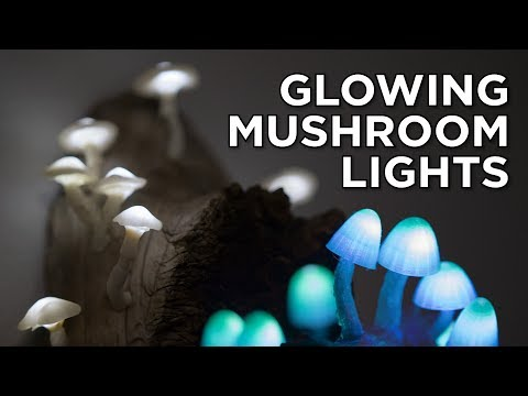 DIY Glowing Mushroom Lights ( with AND without a 3D printer )