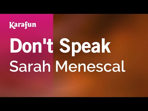 Karaoke Don't Speak - Sarah Menescal * video
