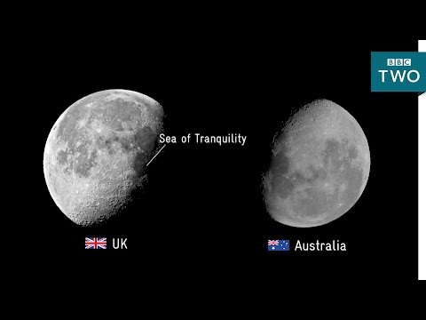 Is the moon upside down? - Stargazing Live: Australia Episode 2 - BBC Two