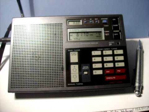 SONY ICF-2003, Radio New Zealand & WWV / WWVH