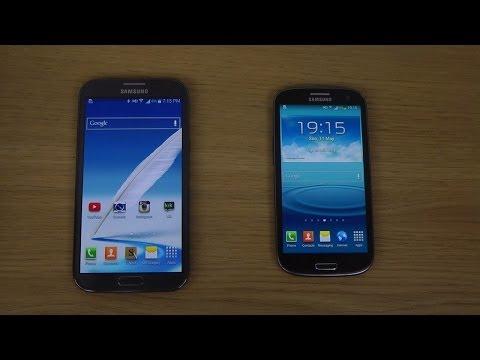 Samsung Galaxy Note 2 4.4 KitKat vs. Samsung Galaxy S3 4.3 - Review
