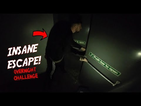 SPENDING THE NIGHT IN A SNOW CENTRE! (CRAZY ESCAPE FOOTAGE)