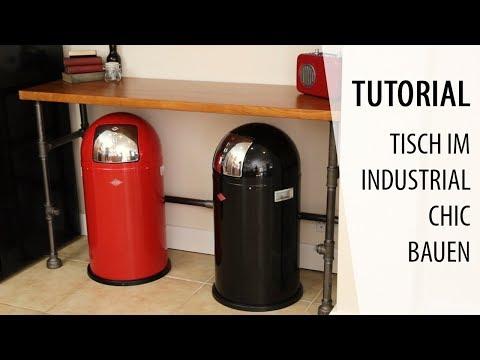 Tisch im Industrial Design bauen | Tutorial