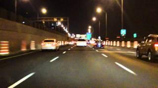 Ville Marie Expressway (Autoroute 720) eastbound (Night)