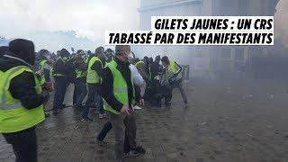 Gilets jaunes : un CRS passé à tabac place de l'Etoile - 1er Décembre 2018